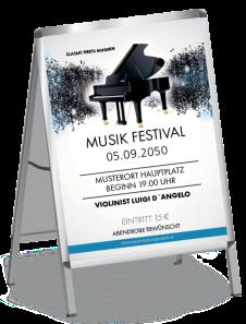 Plakat Musik Melody Blau A1