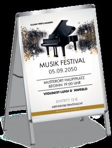 Plakat Musik Melody Braun A1