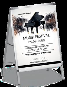 Plakat Musik Melody Schwarz A1