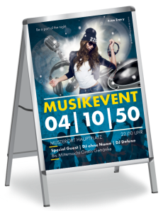 Plakat Musikevent Party Gelb A1