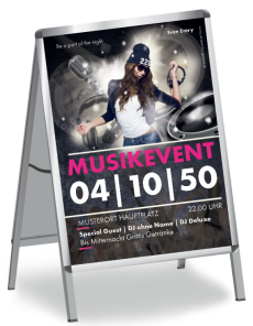 Plakat Musikevent Party Pink A1