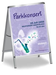 Plakat Musikfest Feeling Blau