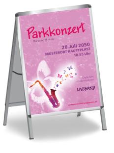 Plakat Musikfest Feeling Violett