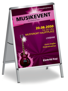 Plakat Musikfest Gitarre Violett