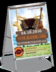 Plakat Musikfest Instrumente Orange