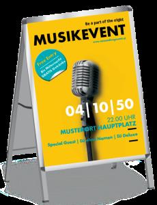 Plakat Musikfest Mikrofon Gelb