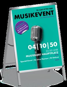 Plakat Musikfest Mikrofon Tuerkis