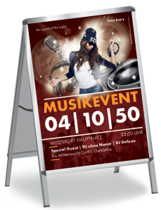 Plakat Musikfestival Party A3 Rot
