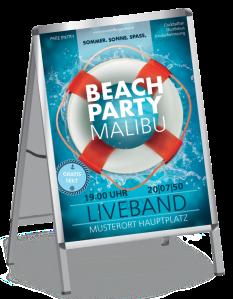 Plakat Sommerfest Schwimmreifen A1 Rot