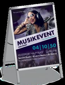 Poster Musik Peiople Violett A1