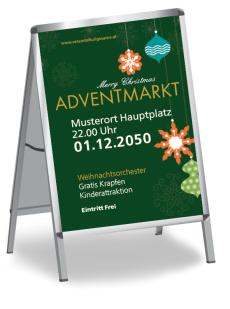 Plakat Weihnachten Schmuck Gruen