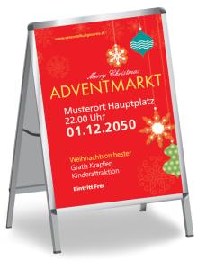 Plakat Weihnachten Schmuck Rot