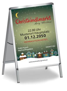 Plakat Weihnachten Stadtlichter Gruen