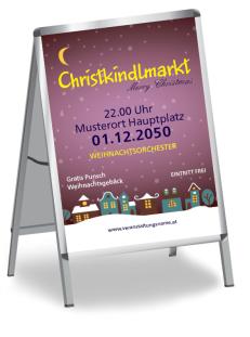 Plakat Weihnachten Stadtlichter Violett