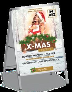plakat-weihnachten-weihnachtsengerl-a0-gold