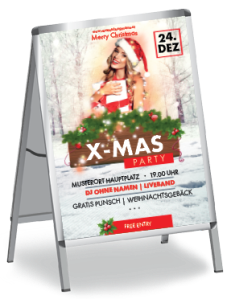 plakat-weihnachten-weihnachtsengerl-a0-rot