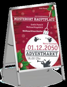 Plakat Weihnachten Zweig Rot