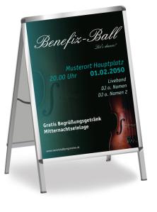 Plakat Ball Musik Gruen