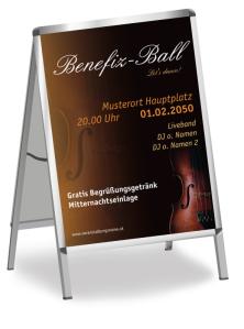 Plakat Ball Musik Orange