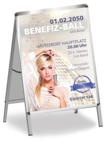Plakat Ball Pretty Woman Weiss
