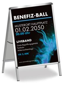 Plakat Ball Sonneneruption Blau