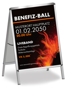 Plakat Ball Sonneneruption Orange