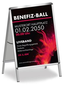 Plakat Ball Sonneneruption Rot