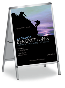 Plakat Bergrettung Blau