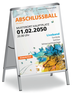 Plakat Abiball Butterfly A1 Orange