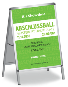 Plakat Abiball Colour A1 Gruen