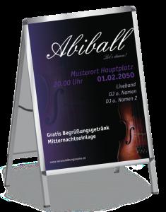 Plakat Abiball Geige A1 Violett