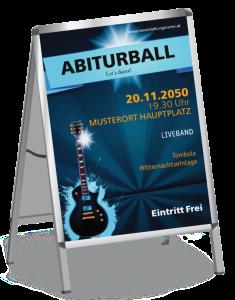 Plakat Abiball Gitarre A1 Blau