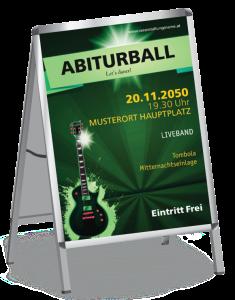 Plakat Abiball Gitarre A1 Gruen