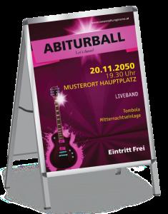 Plakat Abiball Gitarre A1 Pink