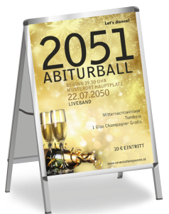 Plakat Abiball Goldrausch Gold A1