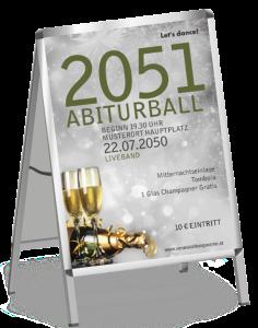 Plakat Abiball Goldrausch Silber a1
