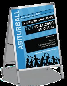 Plakat Abiball Jugend A1 Blau