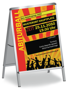 Plakat Abiball Jugend A1 Orange