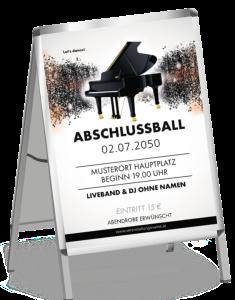 Plakat Abiball Melody Schwarz