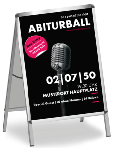 Plakat Abiball Mikrofon Schwarz A1