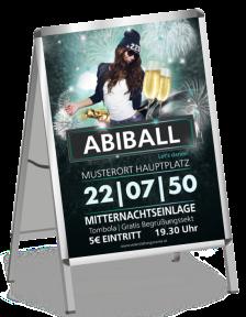Plakat Abiball Milady Blau A1