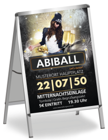 Plakat Abiball Milady Orange A1