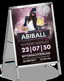 Plakat Abiball Milady Violett A1