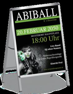 Plakat Abiball Miss Carneval A1 Gruen
