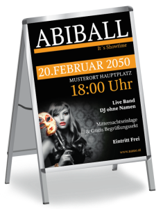 Plakat Abiball Miss Carneval A1 Orange