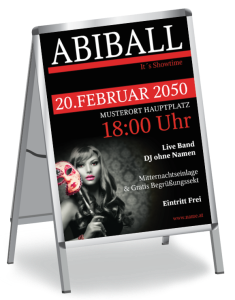 Plakat Abiball Miss Carneval A1 Rot