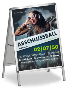 Plakat Abiball People Blau A1