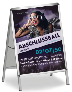 Plakat Abiball People Violett A1