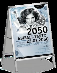 Plakat Abiball Pinup Blau A1