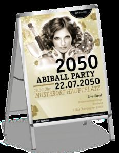 Plakat Abiball Pinup Gold A1
